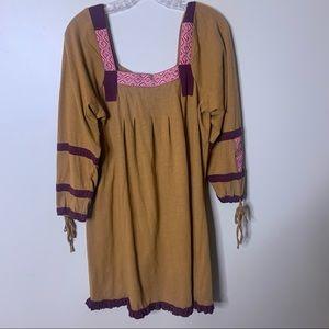 SACRED THREADS Bohemian Indian Ruffle Dress